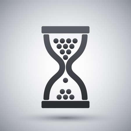 reloj de arena: Icono de reloj de arena de vector  Vectores
