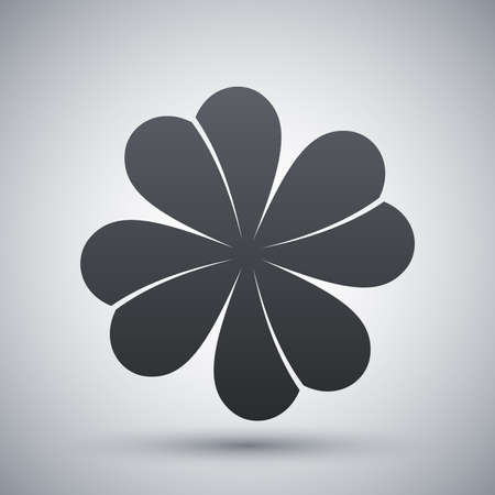 clover icon: Vector four-leaf clover icon Illustration