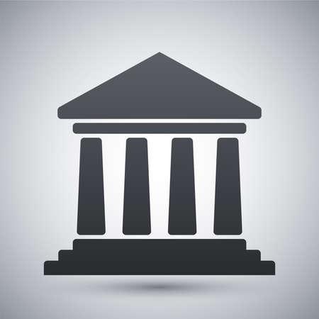 bank building: Vector bank building icon