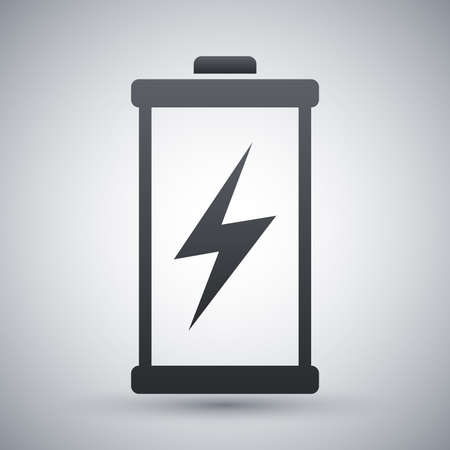 bolt: Discharged battery icon, vector