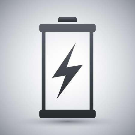 rayo electrico: Icono de la batería descargada, vector