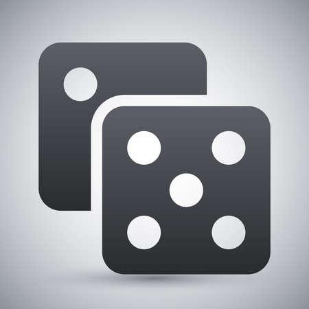 backgammon: Dice icon, vector