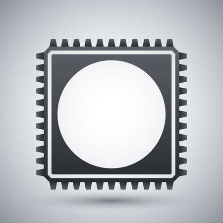 microchip: Chip icon, vector