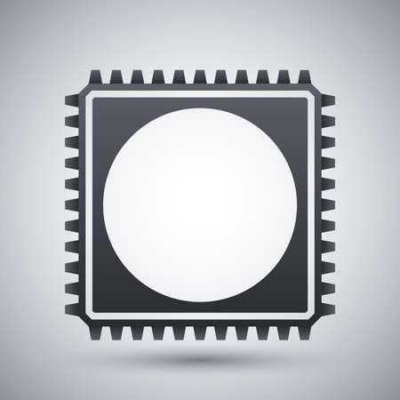 gpu: Chip icon, vector