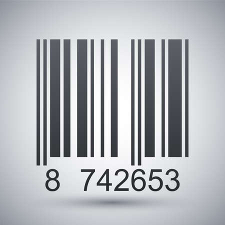 barcode scan: Barcode icon, vector illustration