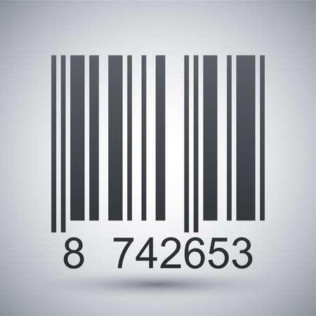 codigo de barras: Icono de código de barras, ilustración vectorial
