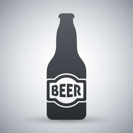 beer label design: Vector beer bottle icon