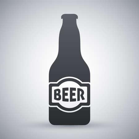 botellas de cerveza: Vector icono de la botella de cerveza Vectores