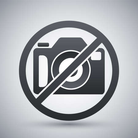 sign: No photography sign, vector