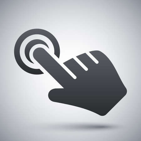 cursor: Click hand cursor icon, vector