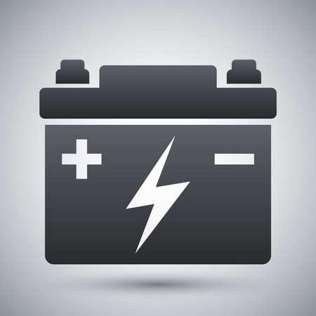 Autobatterie-Vektor-Icon- Vektorgrafik