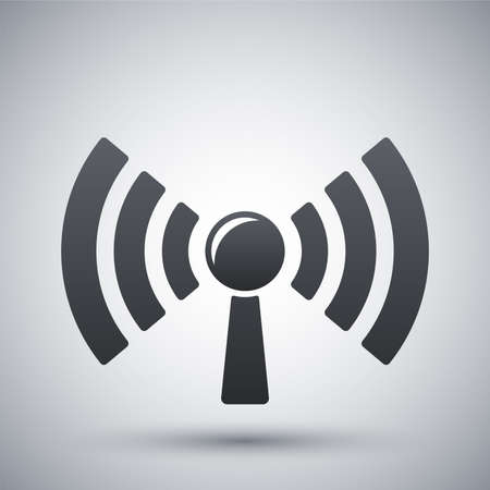 wireless icon: Broadcasting icon, vector