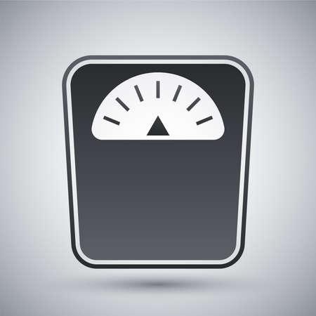 obesidad: Vector icono de básculas de baño Vectores