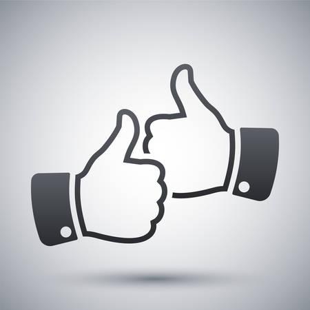 Handen met duim omhoog icoon, vector