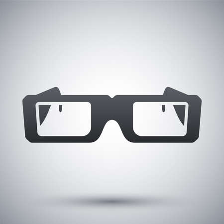 see a doctor: Vector 3D Glasses Icon