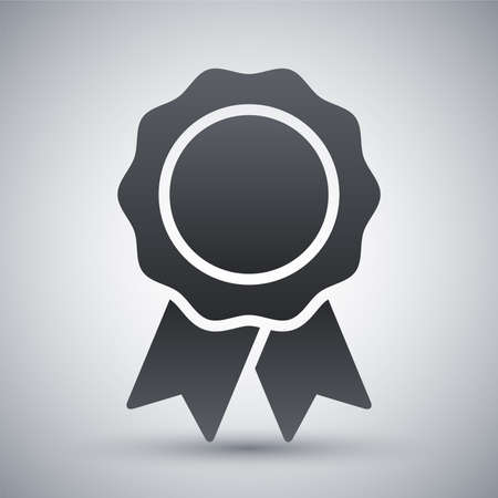medal: Vector badge with ribbons icon