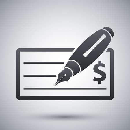 chequebook: Vector bank check icon