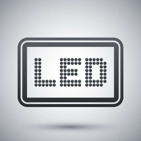 led: Vector LED screen icon