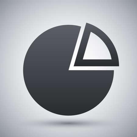 graficas de pastel: Vector icono gráfico circular Vectores