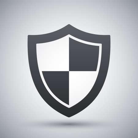 escudo: Icono de protección vectorial