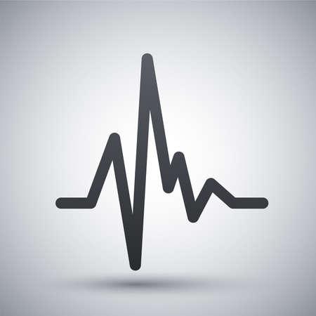 Icône vecteur de la fréquence cardiaque d'impulsion Banque d'images - 41237103