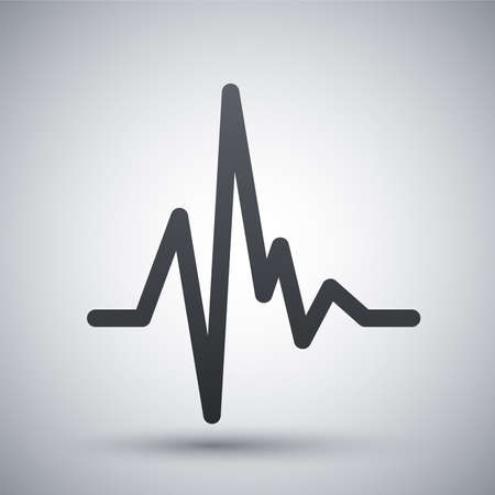 ecg heart: Vector pulse heart rate icon