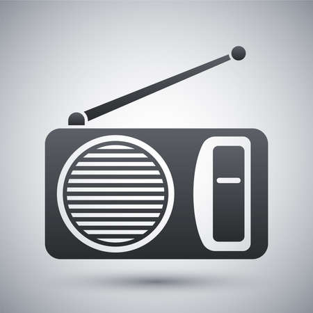 retro radio: Vector radio icon