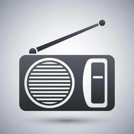 portable radio: Vector radio icon