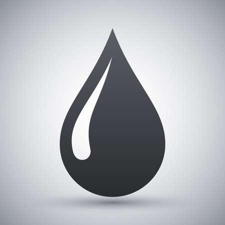 Vecteur goutte de pluie icône