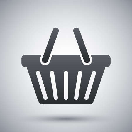 add to basket: Vector shopping basket icon