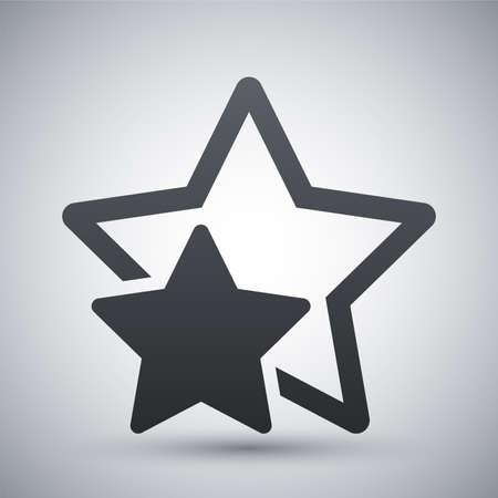 ESTRELLA: Favorito Vector estrella o mejor elección icono
