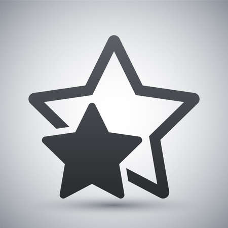 star icons: Vector star favorite or best choice icon
