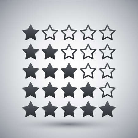 rating: Vector stars rating icon