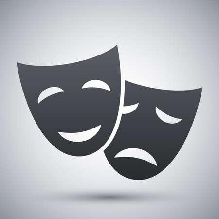 Vector theatrale maskers pictogram Stock Illustratie