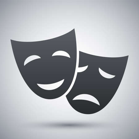 theatrical performance: Vector theatrical masks icon
