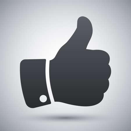 Vector duim omhoog icoon