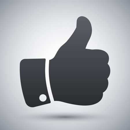 ok button: Vector thumb up icon