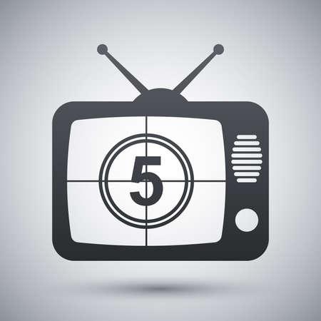 iptv: Vector TV icon
