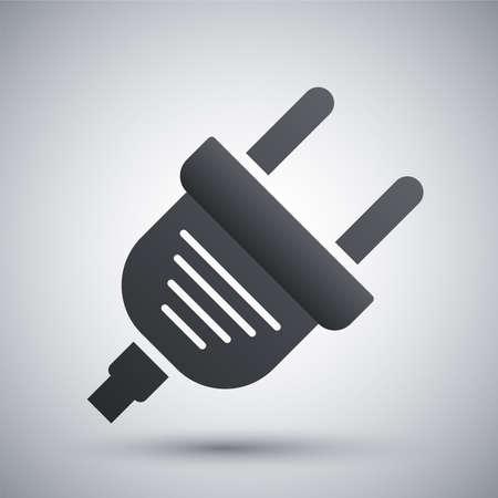 plug electric: Vector icono de enchufe el�ctrico