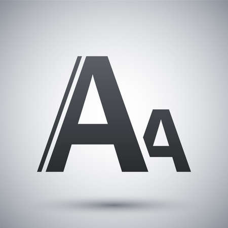 size: Vector font size icon