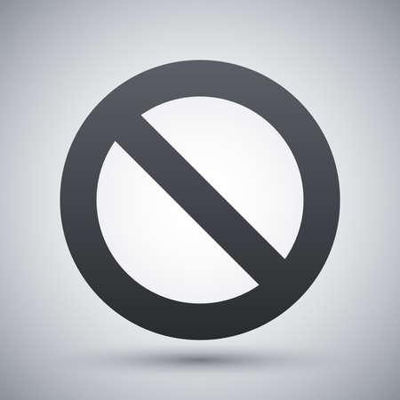 forbidden: Vector forbidden sign icon Illustration