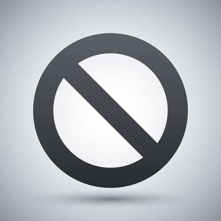 forbidding: Vector forbidden sign icon Illustration