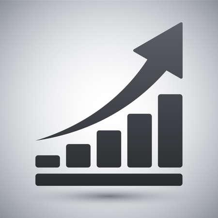 成長グラフのアイコンをベクトルします。  イラスト・ベクター素材