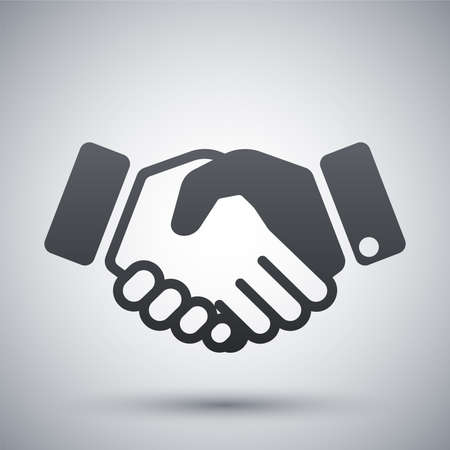 handshake icon: Vector handshake icon Illustration