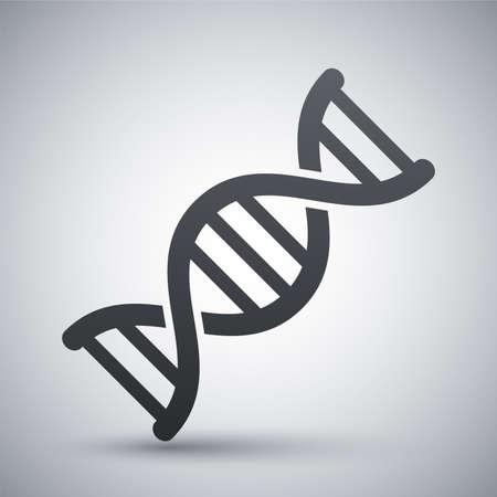 adn humano: Icono de vector de ADN Vectores