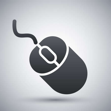 computer mouse icon: Vector computer mouse icon