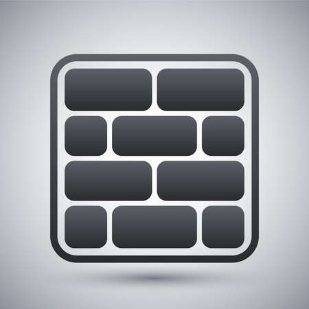 brick work: Vector brick wall icon