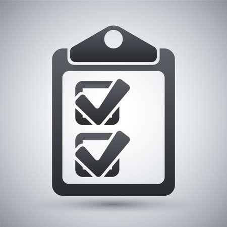 checklist: Vector checklist icon