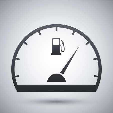 Fuel gauge icon, vector