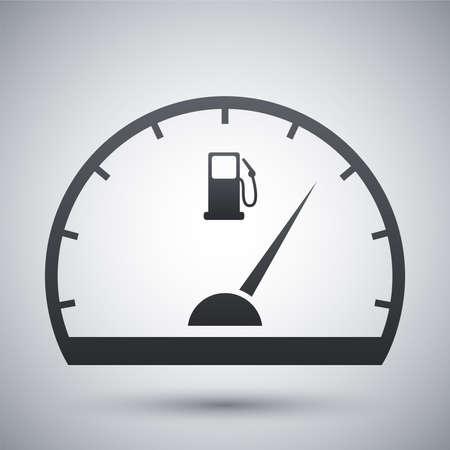 Fuel gauge icon, vector